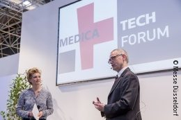 Image: Two speakers at MEDICA TECH FORUM
