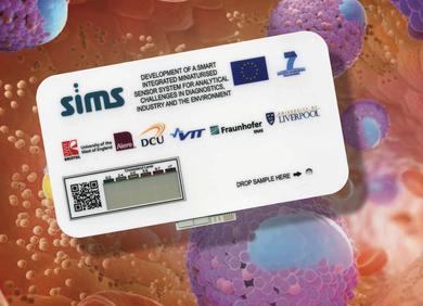 The flexible card with integrated printed battery, display and biosensor was developed as disposable test for measurement of cholesterol content in the blood. The consortium pushs the integration of electronics during the current project phase.