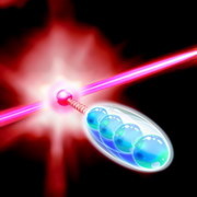 Photo: An ion interacts with the quantum system