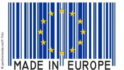 "Photo: EU-star with text ""Made in Europe"""