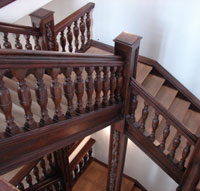 Photo: Old wooden staircase