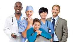 Image: MEDICA banner with five people