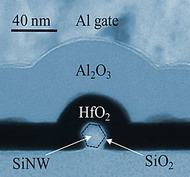 Photo: Schematic image shows a silicon nanowire