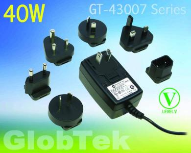 GT-43007 ITE-rated wall plug-in power supply from GlobTek