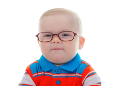 Photo: Infant with glasses