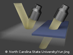 Graphic: Ultrasound waves piercing different materials