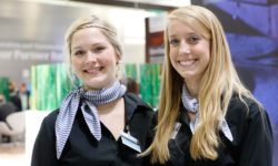 Photo: Two hostesses