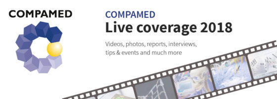 Image: Banner of COMPAMED 2018 live coverage