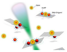 Photo: Quantum dots and gold nanoparticle