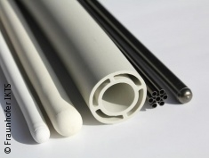 Photo: tiny tubes in white and black