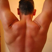 Photo: Man with strong shoulders from the back