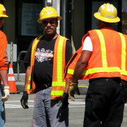 photo: construction workers