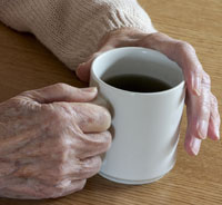 Picture: Hands form an older person