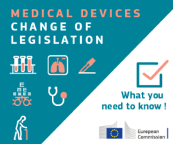 Image: Graphic in green and whit - new medical device regulation; Copyright: European Commission