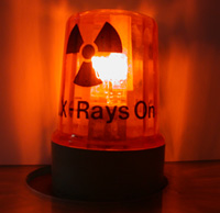 Photo: A red lamp that warns when X-ray is on