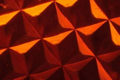 Photo: Microscopic image of a silk optical implant