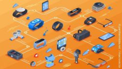 Image: Isometric flowchart with various wearables; Copyright: panthermedia.net / macrovector