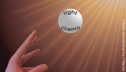 Image: representation of light-activated cancer drugs; Copyright: Robbin Vernooij/University of Warwick