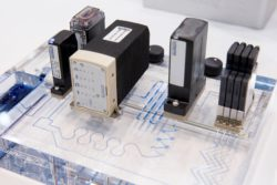 Image: lab-on-a-chip system; Copyright: Messe Düsseldorf