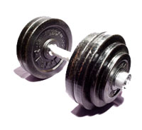 Photo: A dumbbell