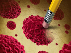 Photo: A pencil eraser killing a red cell