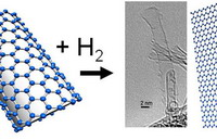 Photo: Single-walled carbon nanotubes (SWNTs) with hydrogen