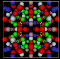 Photo: A graphic of a crystal structure