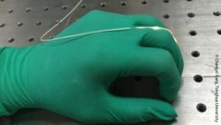 Image: A silicone strain sensor glued to a rubber glove; Copyright: Changxi Yang, Tsinghua University