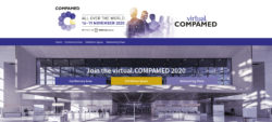 Grahpic: Homepage of the virtual.COMPAMED