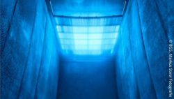 Photo: radiation chamber in blue; Copyright: BGS/Markus Steur Fotografie
