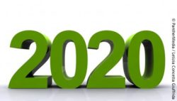 Picture: The year 2020 in large green figures; Copyright: PantherMedia / Letizia Concetta Giuffrida