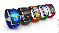Image: different smartwatches in a row; Copyright: PantherMedia / scanrail