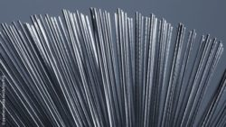 Image: A large pile of metal rods; Copyright: panthermedia.net/Achim Prill