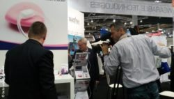 Image: Video shooting at a booth at MEDICA; Copyright: beta-web/Günther