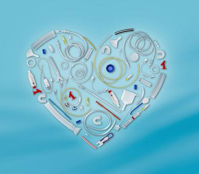 The heart is a key element of the completely updated RAUMEDIC booth concept, which will be presented at Compamed