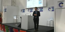 Image: Speaker during a lecture at COMPAMED SUPPLIERS' FORUM; Copyright: beta-web/Heiduk