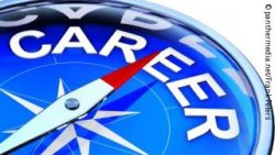 "Image:Compass in blue with the word ""career""; Copyright: panthermedia.net/Frank Peters"