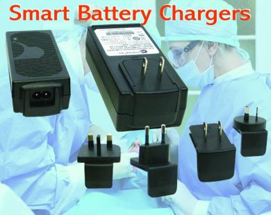 Smart Li-Ion battery chargers from GlobTek offer conditioning, constant current, and constant voltage charging