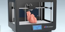 Picture: Computer-generated graphic of a printer producing a heart; Copyright: panthermedia.net/luca de polo