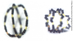 Image: Two black images showing the small soft robot; Copyright: Max Planck Institute for Intelligent Systems